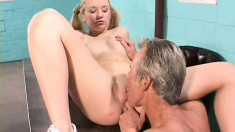 Sensual chick Brittney Alexander bends over and takes a dick from behind
