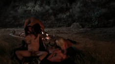 Nasty ladies Alison Tyler and Jacky Joy make out then have a foursome on the beach