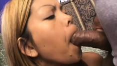 Kinky Melody adores feeling a tongue exploring her furry snach