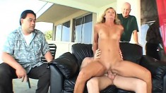 Petite blonde mature has a hung stud punishing her hungry anal hole