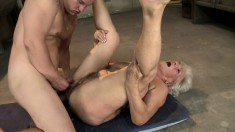 Norma is a gray-haired GILF who enjoys playing with a young prick