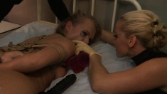 Lustful bondage fetishists enjoying intense pleasure at the hospital