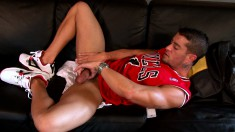 Lusty young buck is eager to play with his own thick fuck rod
