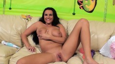 Sultry Brunette Mishka Is Made To Enjoy Intense Orgasms With Sex Toys