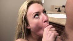 Sultry blonde enjoys hard anal sex and then sucks that big cock clean