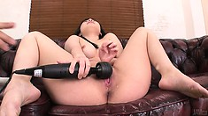 The Vibrators Hitting Just The Right Spot Made Her Squirt All Over