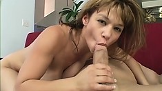 Skanky Asian whore strips and teases then get hammered hard in her slit