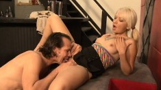 Tattooed slut with tiny tits Coco Velvett gets pounded in the basement