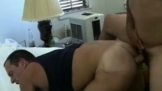 Muscular men make hard anal love in a steamy big dick session