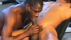 Sporty black lovers include some anal drilling in their workout