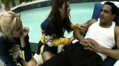 Cheerleaders Nina And Sabrina Share Cock