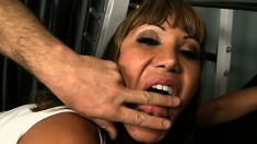 Buxom Asian lady Ava Devine has her personal trainer banging her peach