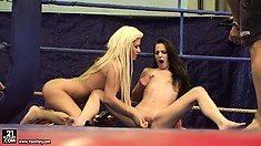 Amirah Adara and Bibi Noel getting filmed in the course of a catfight