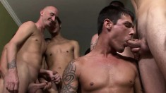 Justin Cox can't get enough hard dicks hammering his hungry anal hole
