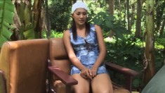 Pajar Buabun can't get enough of being filmed while rubbing her cunt