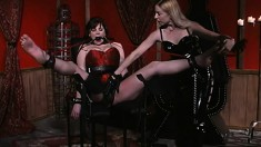 Lusty dominatrix can't wait to punish a naughty piece of tail