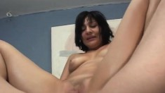 Sonia puts her wonderful booty on display and then takes on a big cock