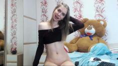 Blonde teen anal masturbate