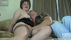 Lustful mature Leonora seduces the young stud Nicholas to satisfy her sexual urges