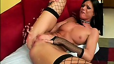 Sexy chick India Summer gets banged until she squeals with pleasure