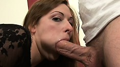 Horny cutie Kylie Haze fingers her slit to get it ready for a cock