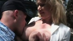 Samantha Taylor doing what her fabulous body does best with some lucky guy