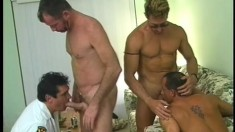 Kent Burke and Eric Reese in one hell of a hot gay ass pumping orgy
